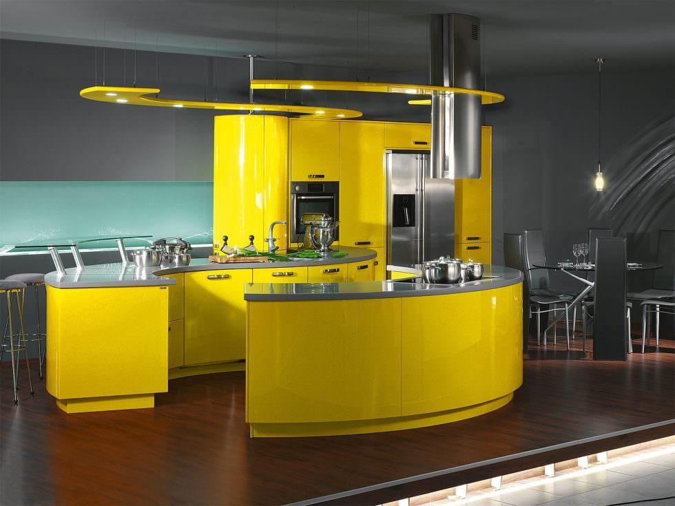 Дизайн кухні в стилі хай-тек: ідеї та фото