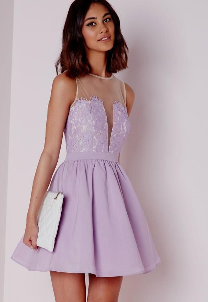 Оригінальним рішенням буде бузкове вечірнє плаття. Якщо це модель довжиною  в підлогу d6189053ad2a3
